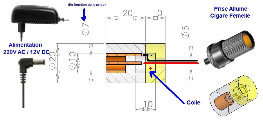r alisation d 39 alimentations 220v 12 volts pour camping car. Black Bedroom Furniture Sets. Home Design Ideas