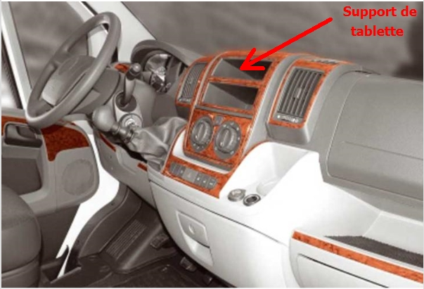 r alisation d 39 un support de tablette 10 pouces pour camping car. Black Bedroom Furniture Sets. Home Design Ideas